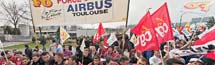 Airbus : manifestation contre le plan Power 8